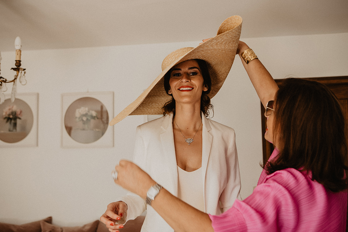 jacquemus bride getting prepared