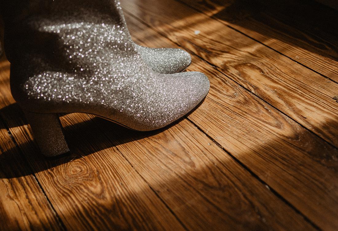 glitter dancing boots