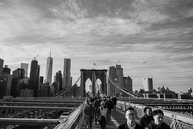 brooklyn bridge black and white photography