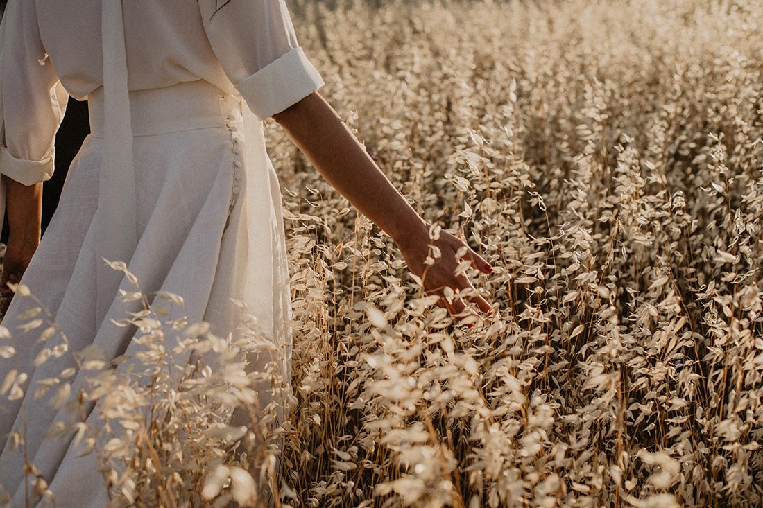 hands by sunset in oatfield